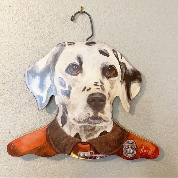 Vintage Annie Rehder Schultz Wood Dalmation Dog Hanger  Stupell Hanger